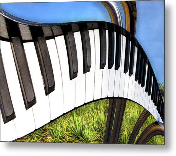 Metal Print featuring the photograph Piano Land by Paul Wear