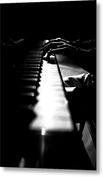 Piano Player Metal Print