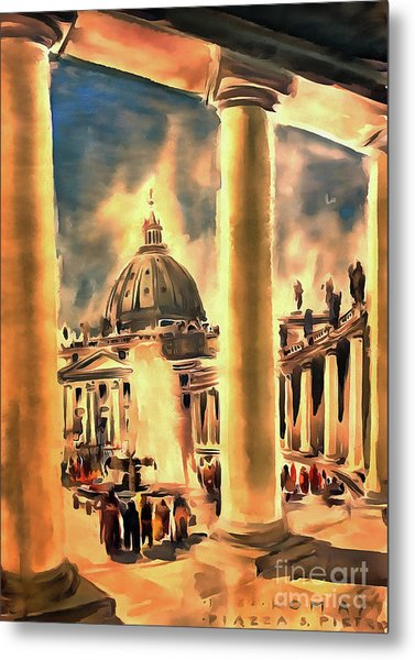 Piazza San Pietro In Roma Italy Metal Print