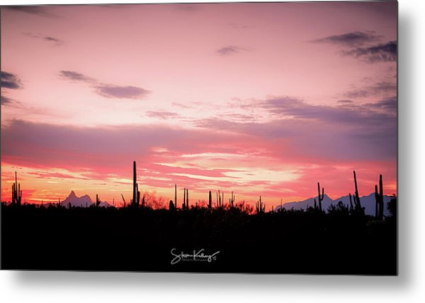 Picacho Sunset Metal Print