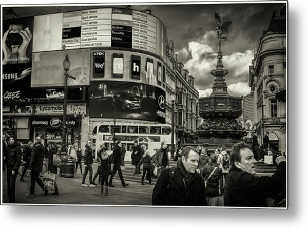 Metal Print featuring the photograph Piccadilly  by Stewart Marsden