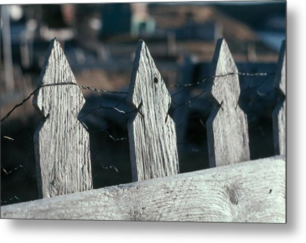 Picket Fence Metal Print by Douglas Pike