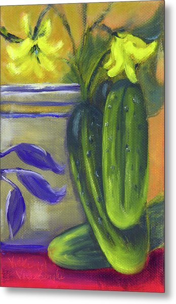 Pickling Cucumbers  Metal Print