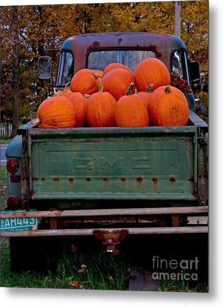 Pickup My Pumpkins Metal Print