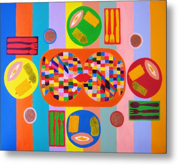 Picnic Number One Metal Print by Ricky Gagnon