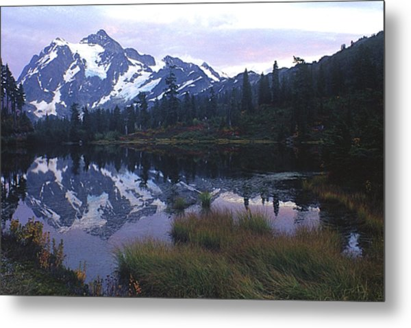 Picture Lake - Mt. Shuksan Metal Print
