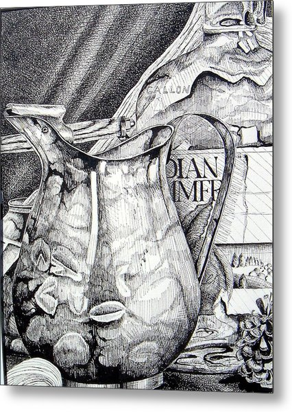 Picture Of Pitcher Metal Print