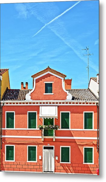 Picturesque House In Burano Metal Print