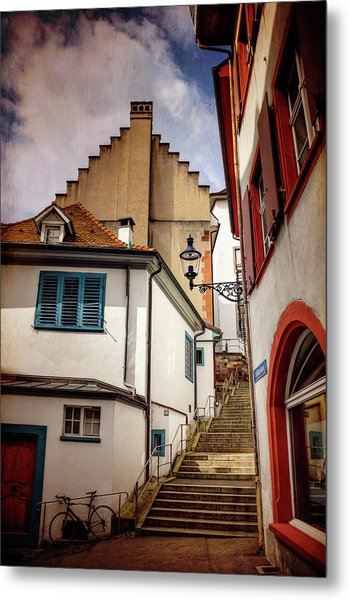 Picturesque Old Town Of Basel Switzerland  Metal Print