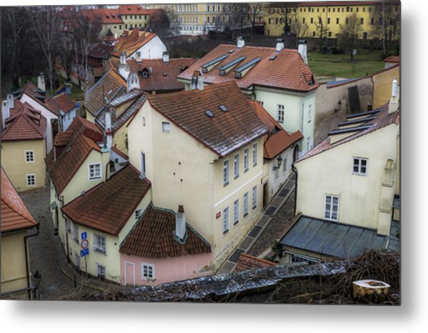 Picturesque Quarter Close To Prague Castle Metal Print by Marek Boguszak