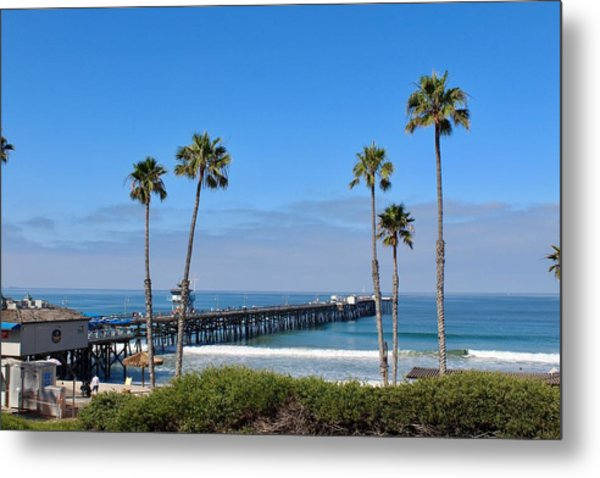 Pier And Palms Metal Print
