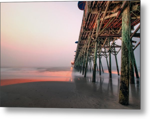 Pier And Surf Metal Print