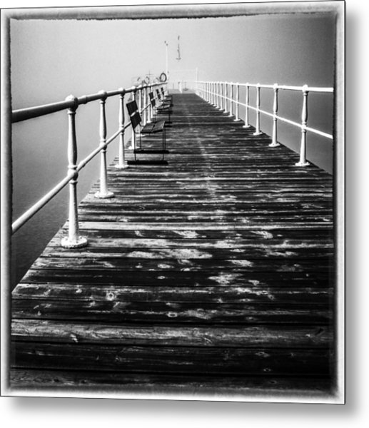 Pier At Pooley Bridge On Ullswater In The Lake District Metal Print
