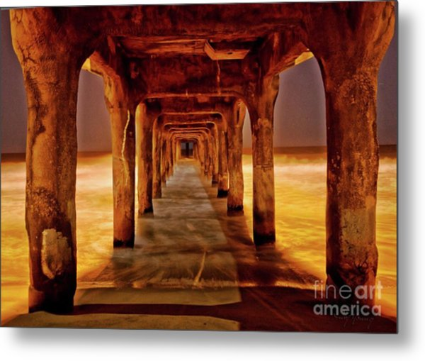 Pier Beauty Metal Print by Larry Young