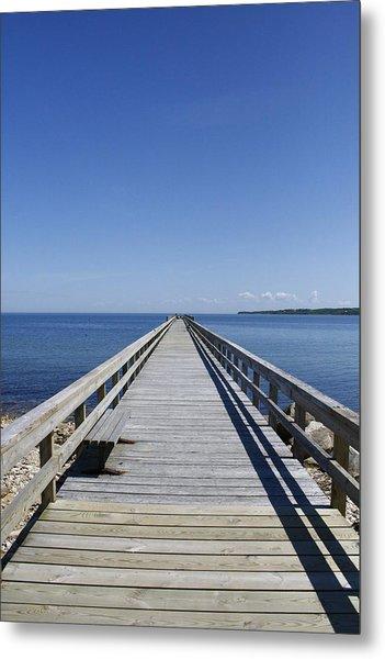 Pier On Fort Pond Bay Montauk Metal Print