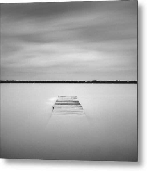 Metal Print featuring the photograph Pier Sinking Into The Water by Todd Aaron