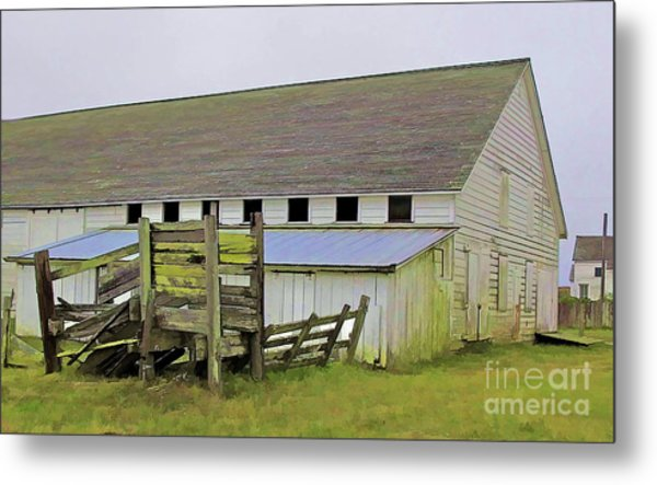 Pierce Pt. Ranch Barn Metal Print