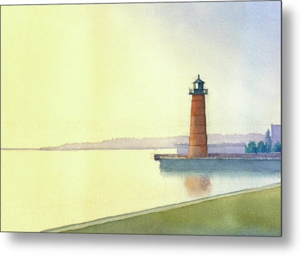 Pierhead Lighthouse, Milwaukee Metal Print