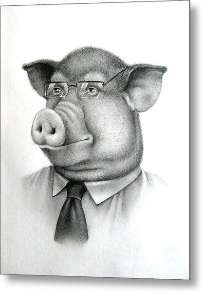 Pig Boss Metal Print by Vlad Krichenko
