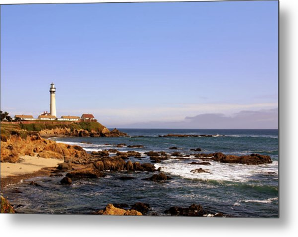 Pigeon Point Lighthouse Ca Metal Print