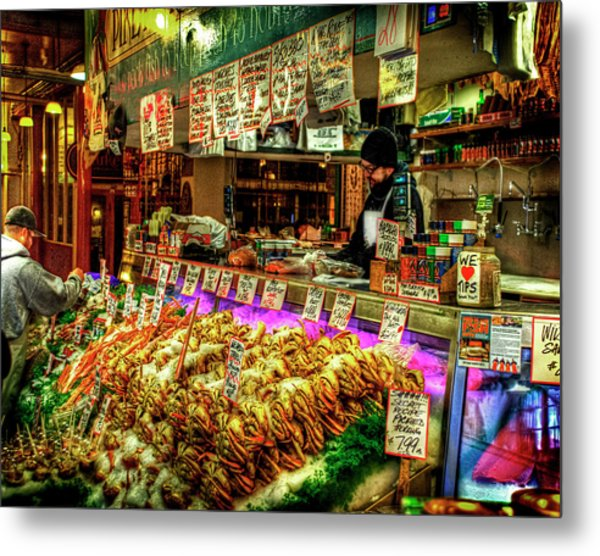 Pike Market Fresh Fish Metal Print
