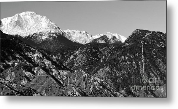 Pikes Peak And Incline 36 By 18 Metal Print