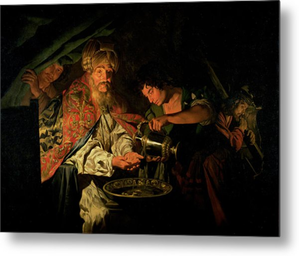 Pilate Washing His Hands Metal Print