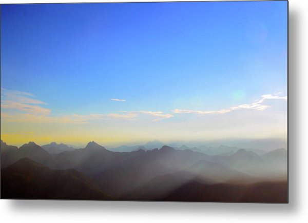 Pilchuck And Three Sisters Sunrise Metal Print