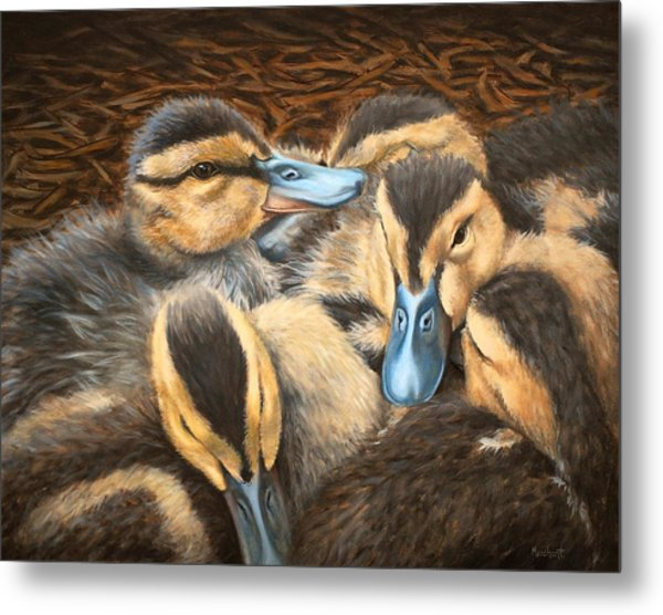 Pile O' Ducklings Metal Print