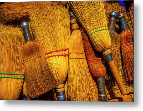 Pile Of Whisk Brooms Metal Print