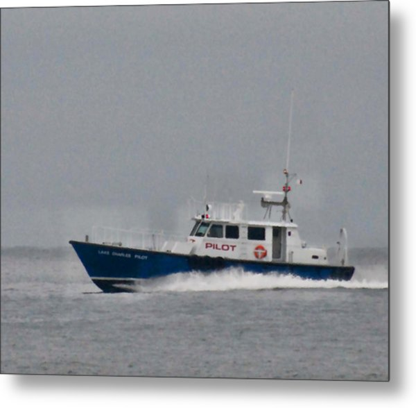 Pilot Boat Metal Print by Bill Perry