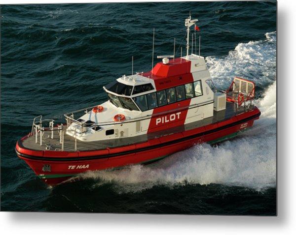 Pilot Boat Wellington Metal Print