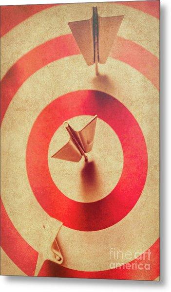 Pin Plane Darts Hitting Goals Metal Print