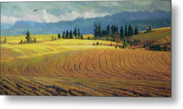 Metal Print featuring the painting Pine Grove by Steve Henderson