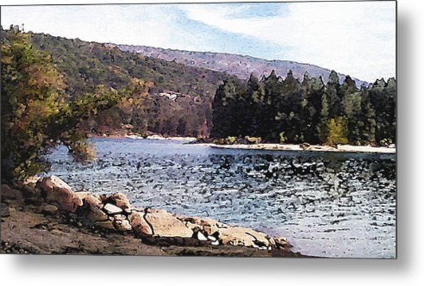 Pine Point Bass Lake Larry Darnell Metal Print by Larry Darnell