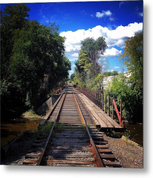 Pine River Railroad Bridge Metal Print