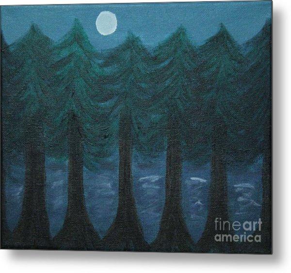 Pine Tree Lake Metal Print