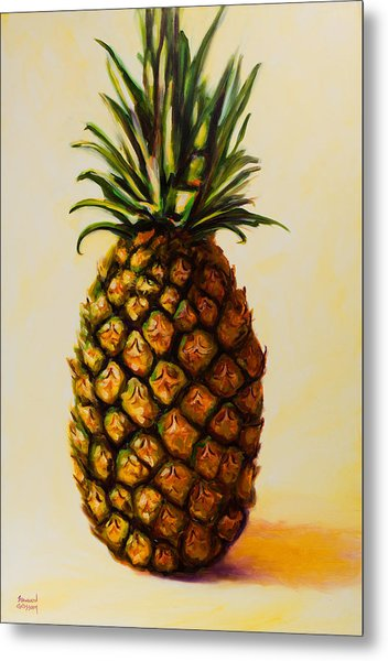 Pineapple Angel Metal Print