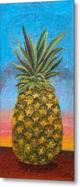 Pineapple Sunrise Or Pineapple Sunset Metal Print
