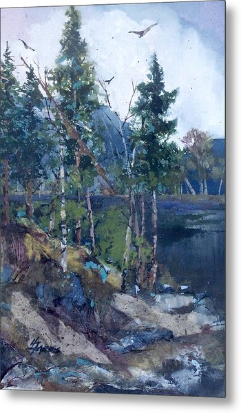 Metal Print featuring the painting Pinelake  by Helen Harris