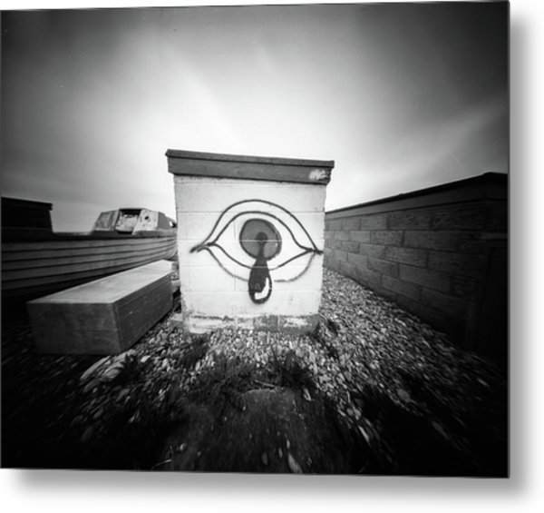 Metal Print featuring the photograph Pinhole Crying Eye by Will Gudgeon
