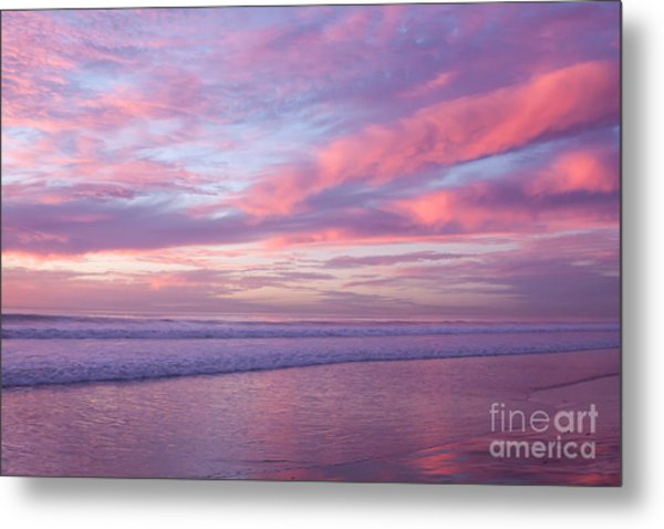 Pink And Lavender Sunset Metal Print