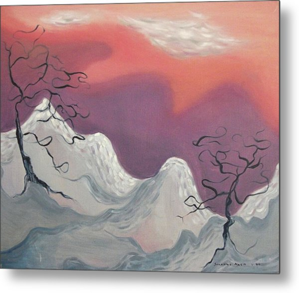 Pink And Purple Sky Metal Print by Suzanne  Marie Leclair