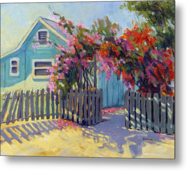 Metal Print featuring the painting Pink And Red by Konnie Kim