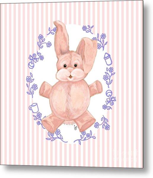 Pink Baby Bunny Metal Print