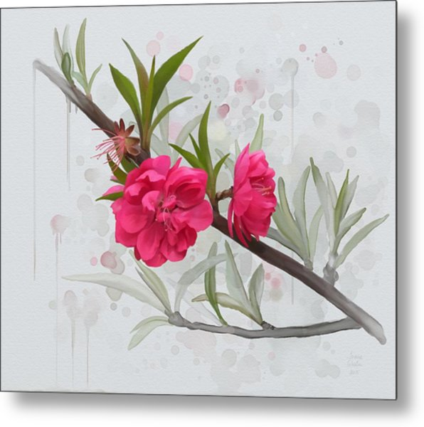Hot Pink Blossom Metal Print