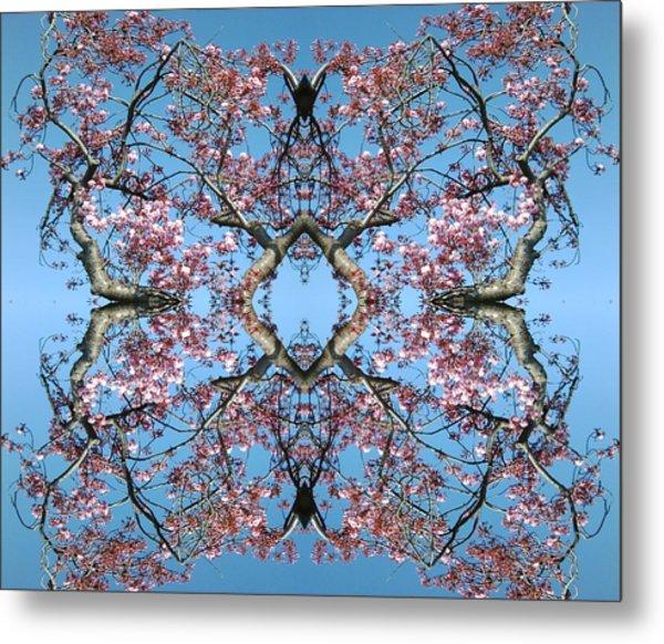 Pink Blossom Mandala Metal Print