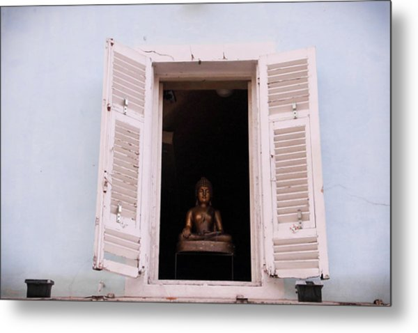 Metal Print featuring the photograph Pink Buddha by Rasma Bertz