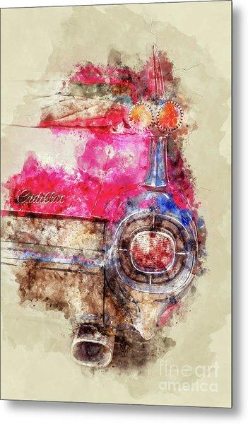 Pink Cadillac - Back Metal Print