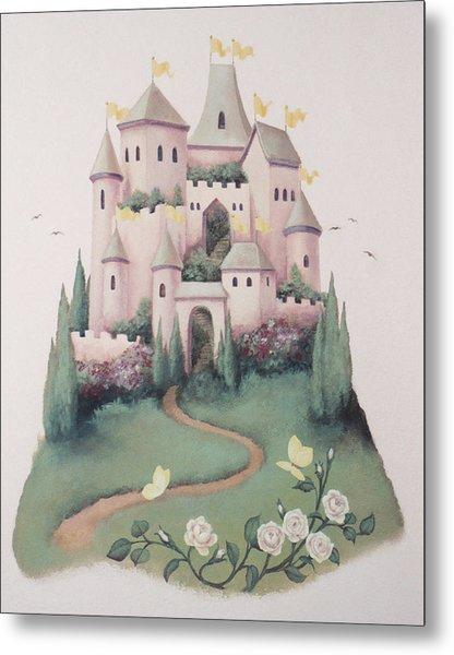 Pink Castle Metal Print